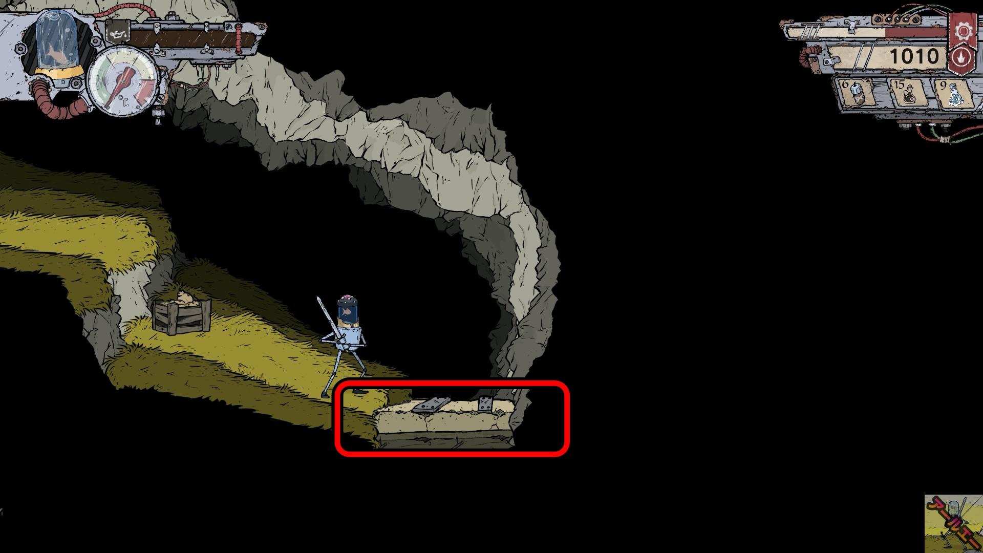 ブリキの騎士_爆弾で破壊できるドア